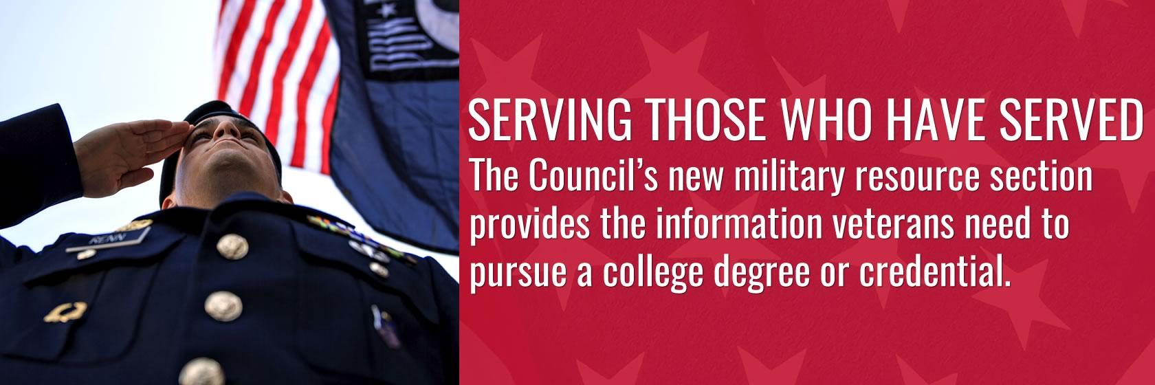 View CPE's new military resource section for veterans looking to get a degree or credential.