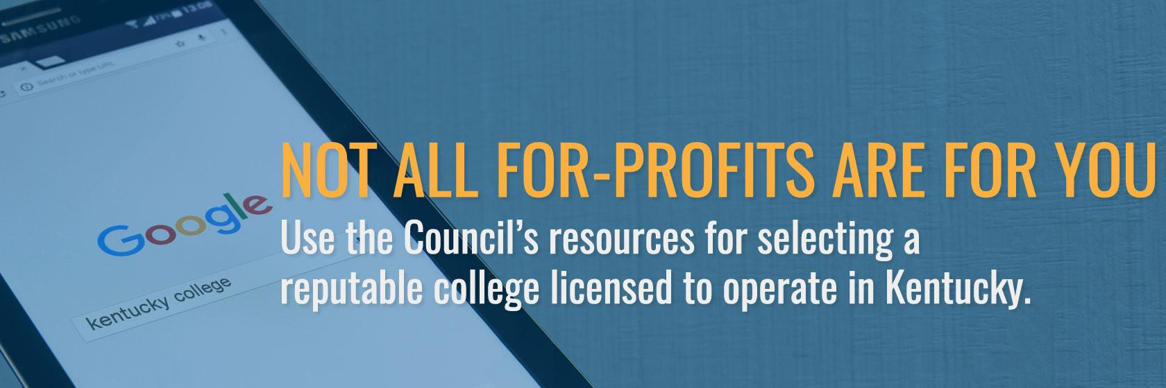 Use the Council's resources for selecting a 