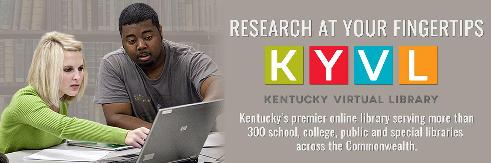 Learn about how the Kentucky Virtual Library serves libraries and citizens across the Commonwealth.