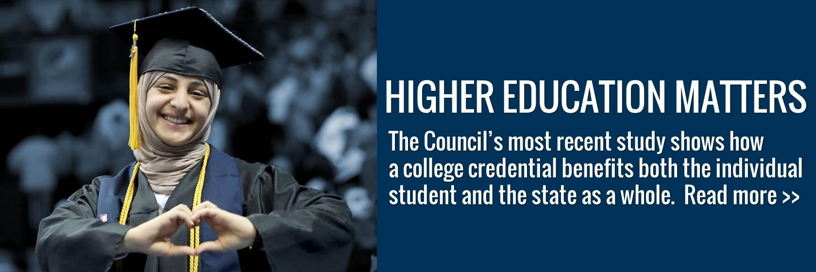 Learn how obtaining a postsecondary credential benefits both citizen and state.