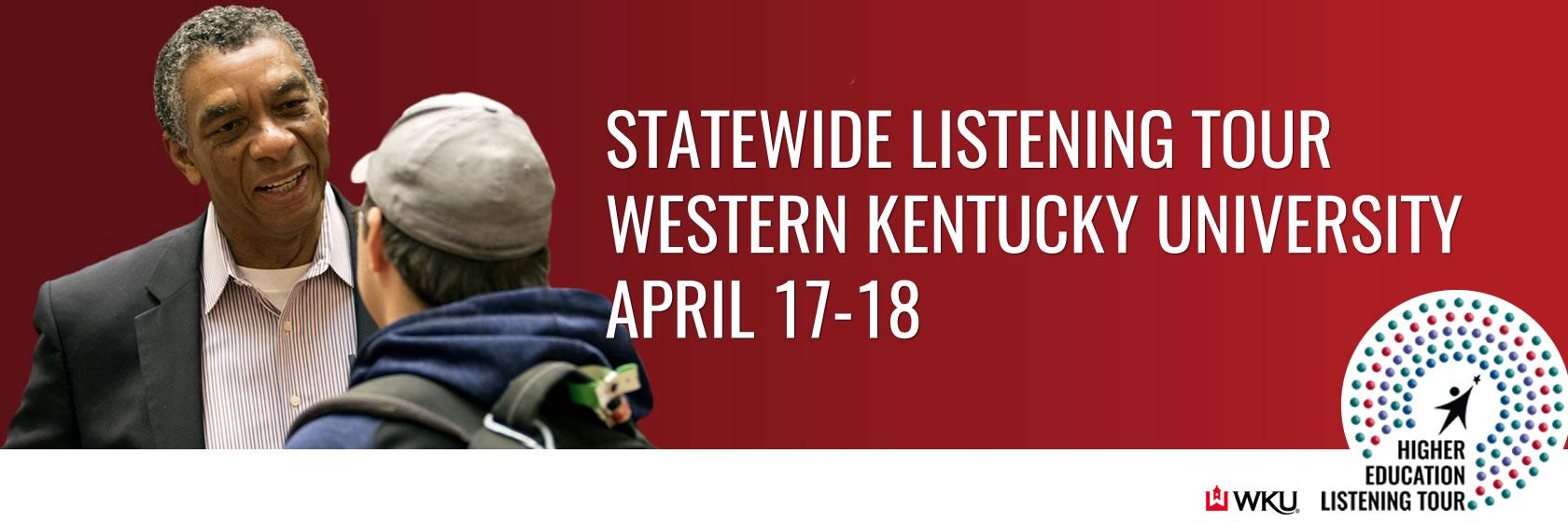 Statewide listening tour to continue at WKU, April 17-18.