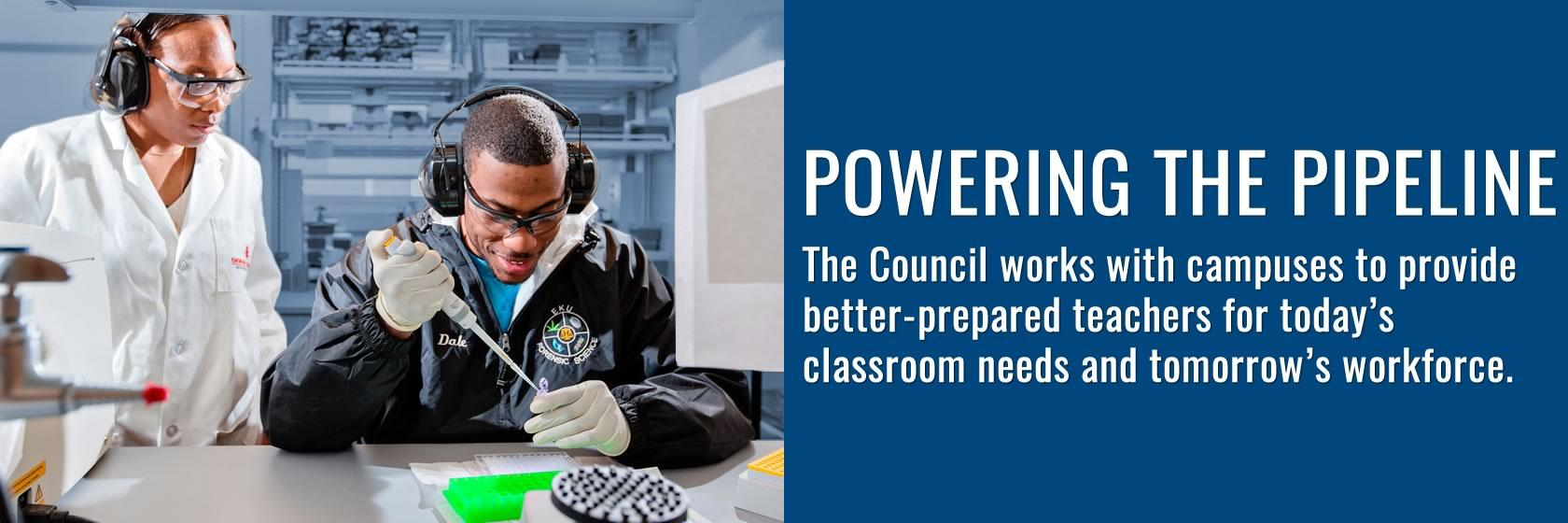 The Council works with Kentucky's campuses in improving teacher education programs.