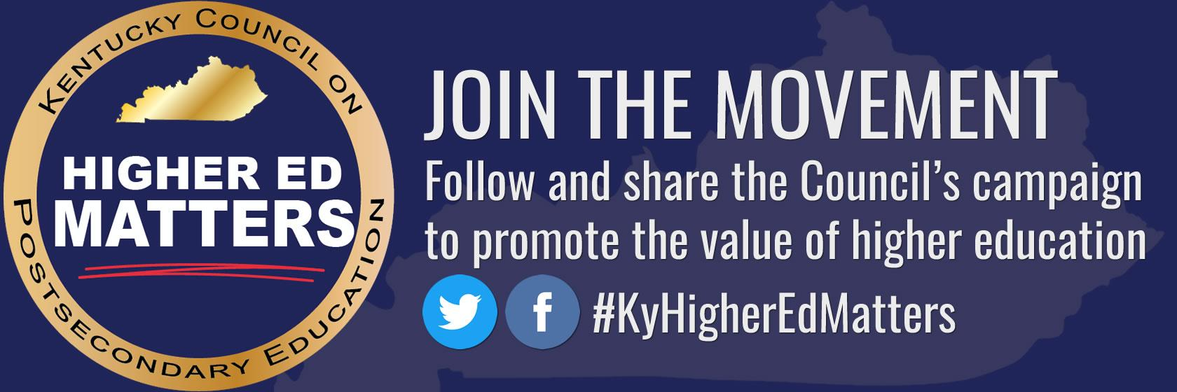 Follow the Council and the #KyHigherEdMatters campaign on Twitter.